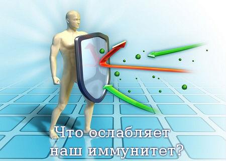 Что ослабляет наш иммунитет?