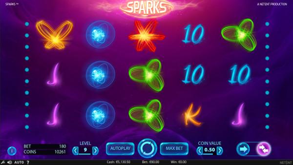 Игровой автомат Sparks - на официальный сайт Эльдорадо казино играть