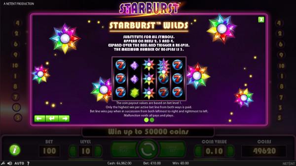 Игровой автомат Starburst - по крупному выиграй в Вулкан Россия казино